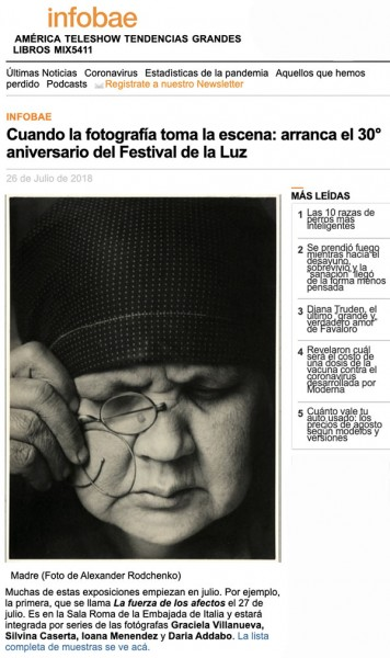 Infobae - Festival de la Luz 2018