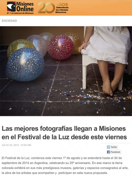Misiones Online -  Festival de la Luz 2014